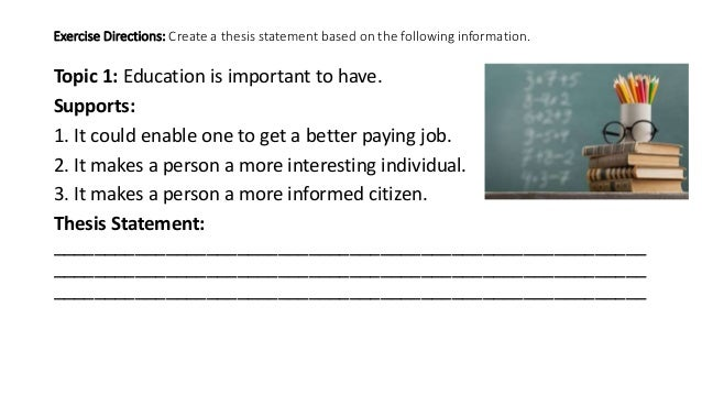pay to do education thesis statement