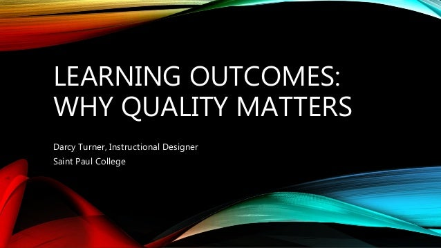 quality matters essay Who/eip/osd/20031 quality and accreditation in health care services a global review evidence and information for policy department of health service provision.