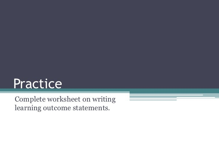 Outcome based practice essay
