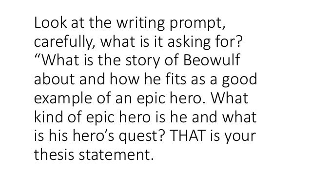 strong thesis statement for beowulf Strong essays: beowulf & grendel vs beowulf, the epic it will never let you down that statement holds true in the great epic of beowulf.