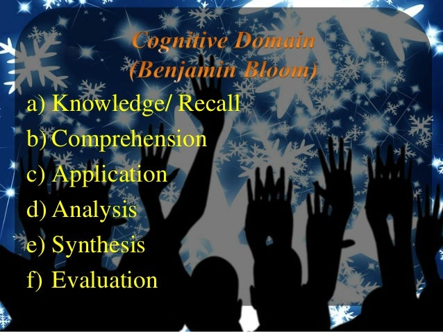 recall comprehension application analysis synthesis evaluation