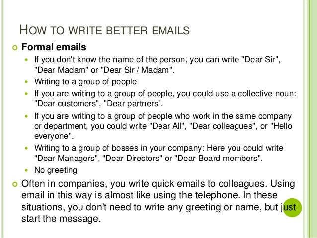 Writing letters and emails how to write better emails formal altavistaventures Image collections