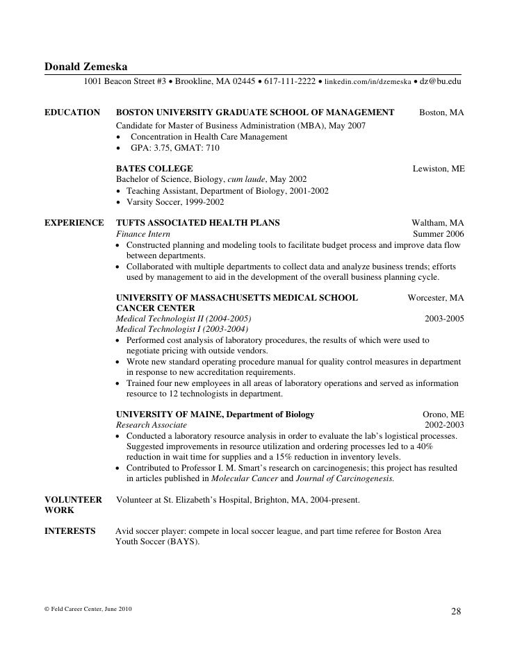 SlideShare  How To Write A Business Resume