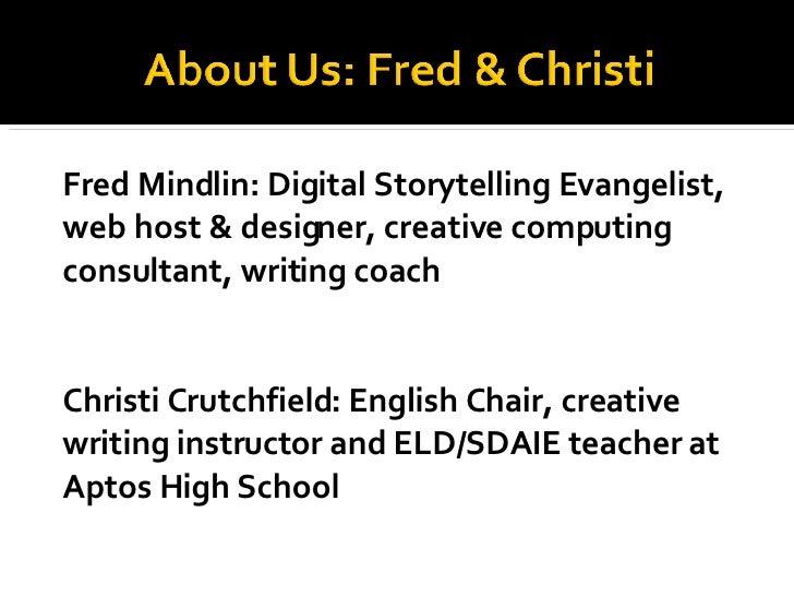 Using VoiceThread for digital storytelling in schools Slide 2