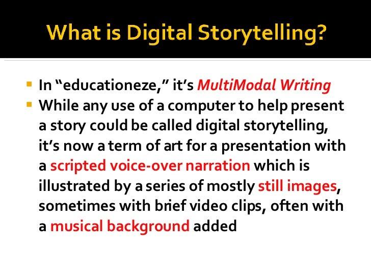 Using VoiceThread for digital storytelling in schools Slide 3