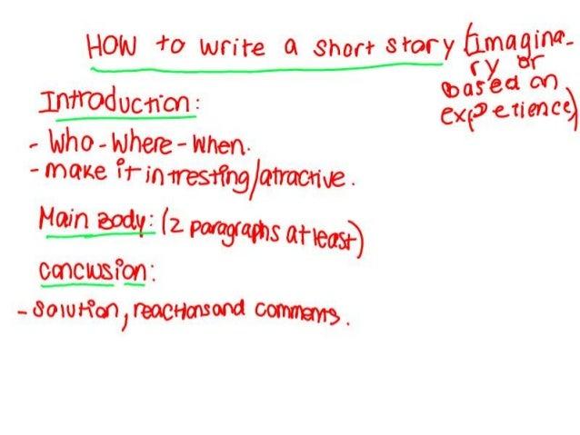 Writing narrative stories