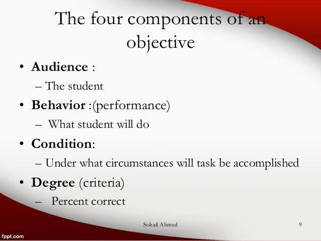 writing objectives using bloom u2019s taxonomy by sohail ahmed