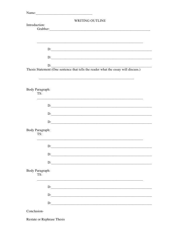 Graphic essay outline