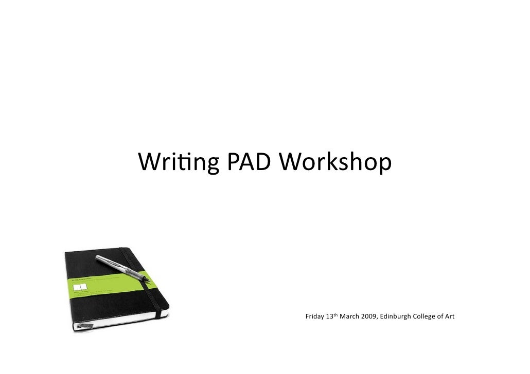 Writing PAD Workshop