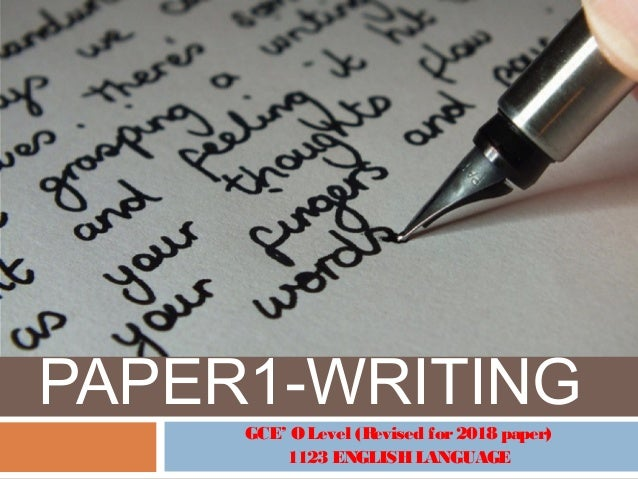 GCE O LEVEL Writing Paper