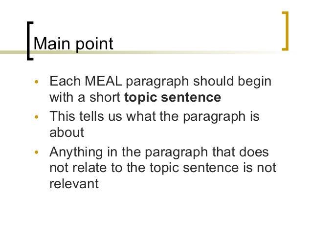 Essay meal plan