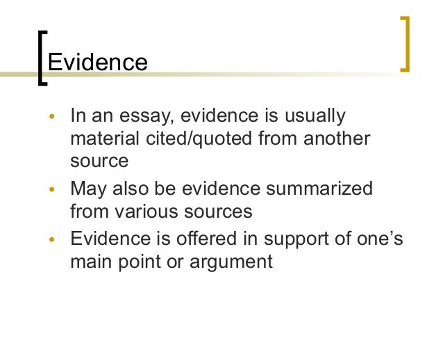 an example of an argumentative essay