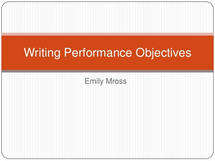 writing a performance review objectives