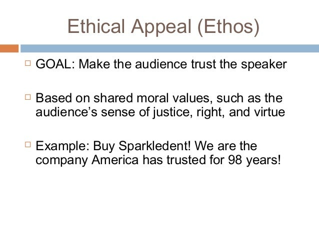 Ethical Appeal Examples Roho4senses
