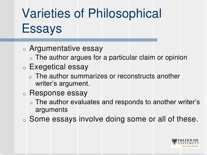 philosophical essay examples