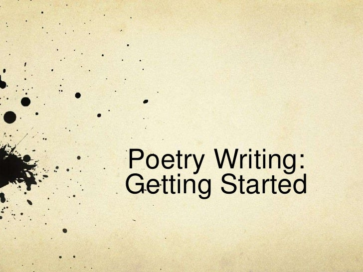 writing poetry online .