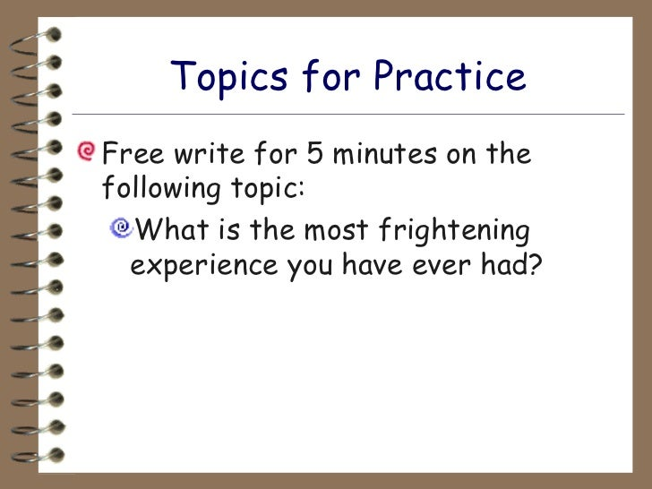 frightening moment essay How exactly to compose a good essay on short notice ever endured a frightening moment of getting to show an essay within the next day, you hadn't even started it.