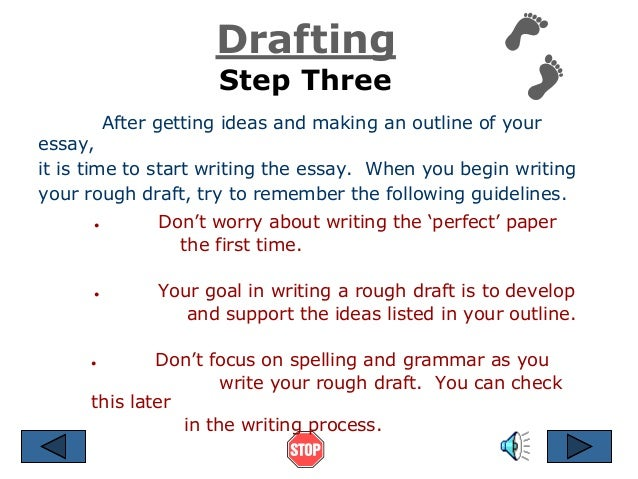 writing process ppt drafting