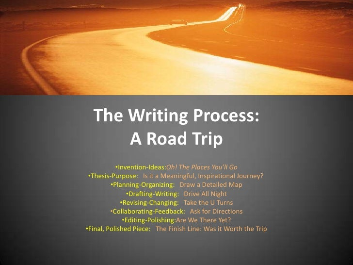 The Writing Process:A Road Trip<br /><ul><li>Invention-Ideas:Oh! The Places You'll Go