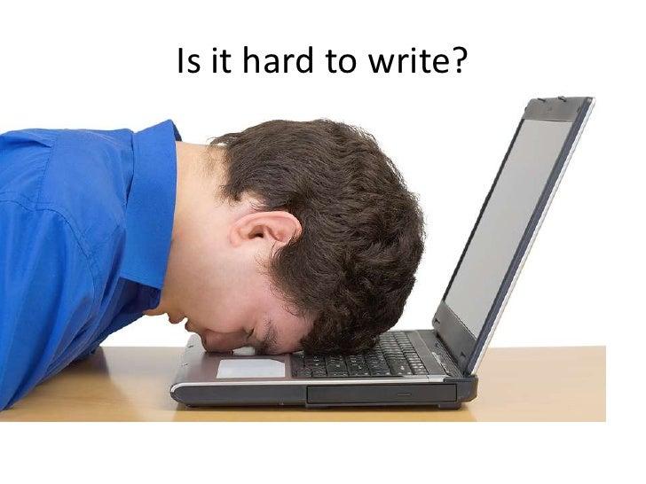 Writing process presentation