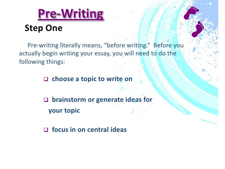 steps in writing an assignment