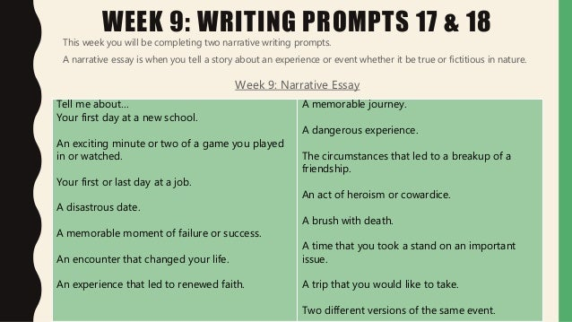 standardized test writing prompts