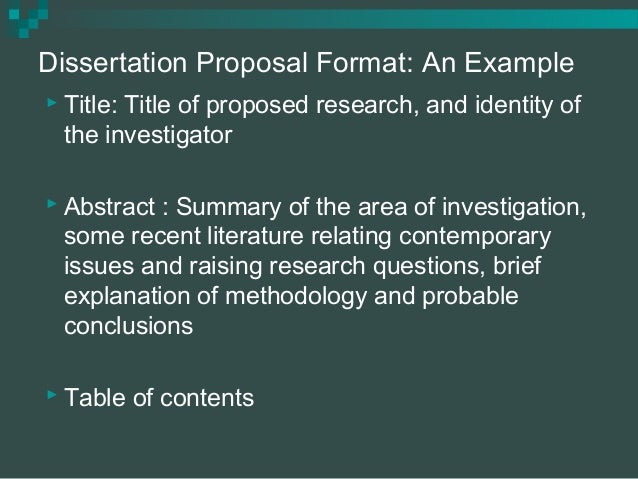 methodology in a thesis proposal