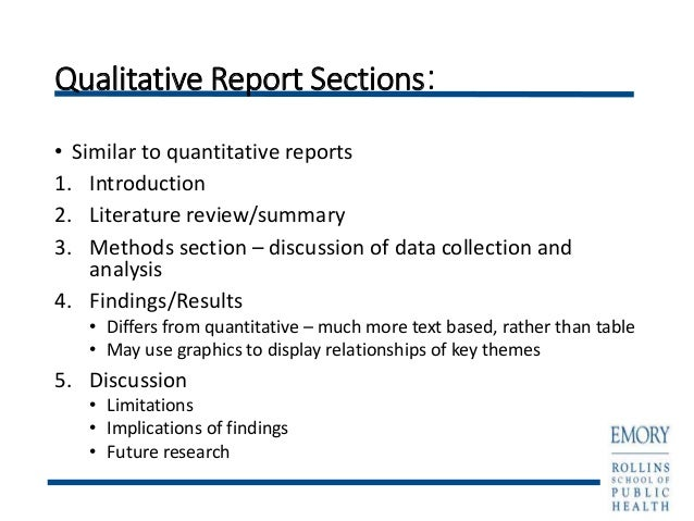 qualitative research reports Qualitative report writing vanderbilt university assessment website the vanderbilt institutional research office maintains these web pages on behalf of the.