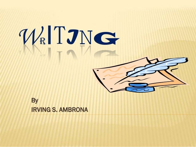 W ITING   R By IRVING S. AMBRONA