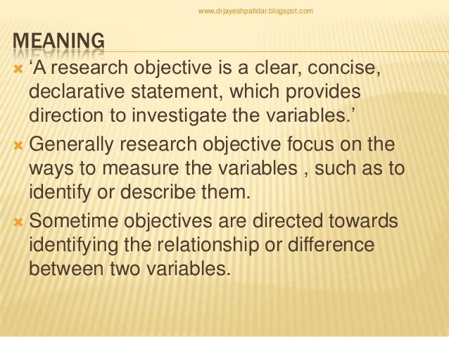 setting a research question, aim and objective.