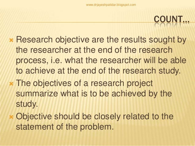 objectives of research ppt