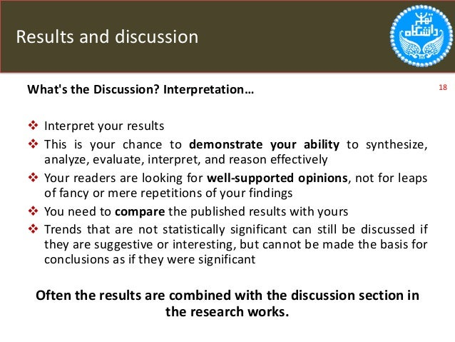 Writing the discussion section of a thesis