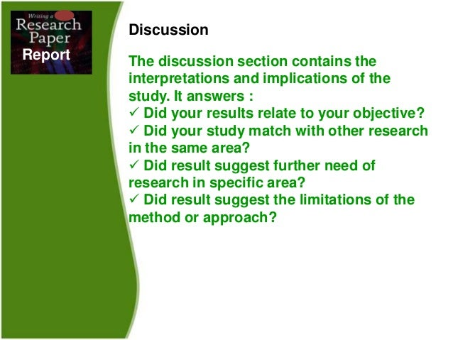 how to write a discussion section for a research paper