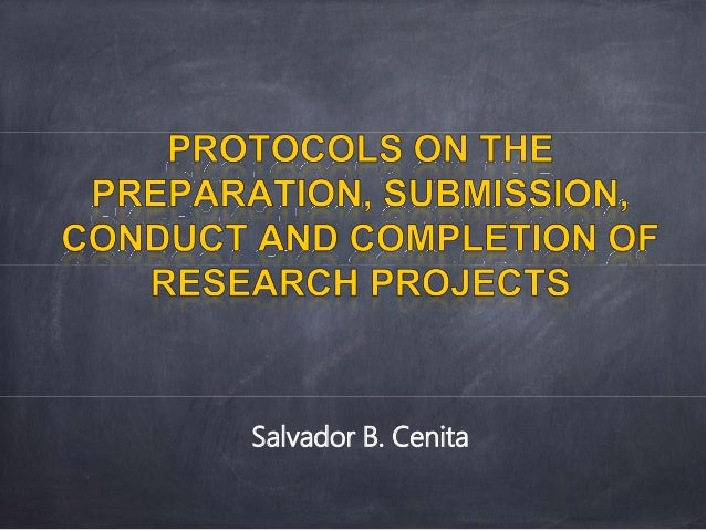 writing a research project
