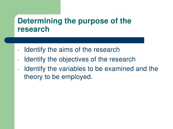 Guidelines in writing research objectives in research