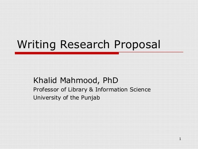 writing a scientific research proposal