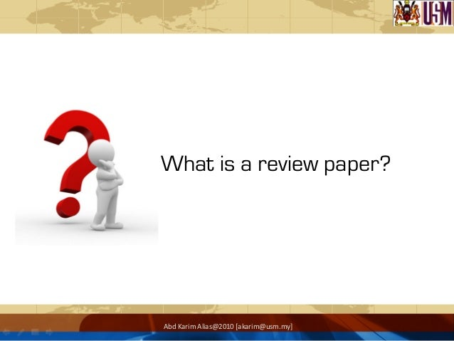 Writing review paper
