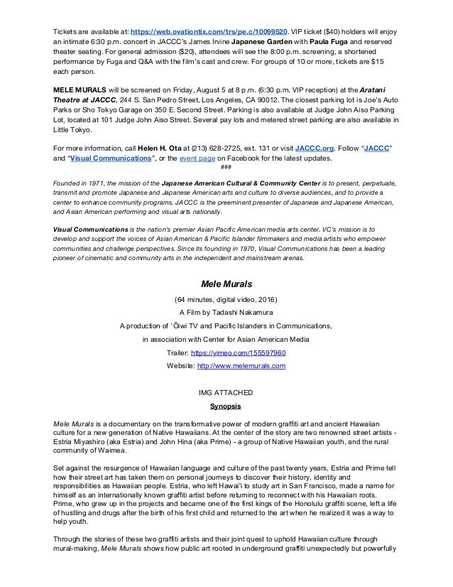 Writing sample - Press Releases and Donations