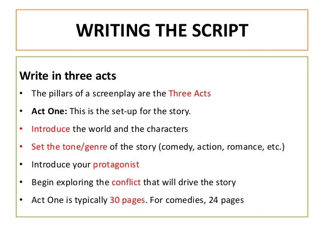 how to write your own script