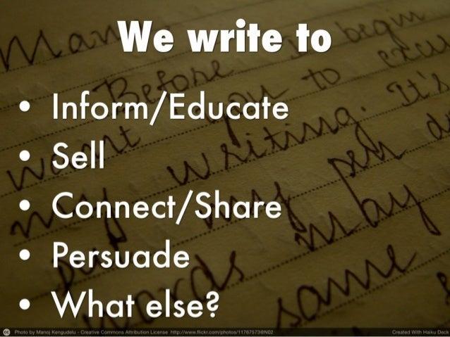 How to write short Slide 2