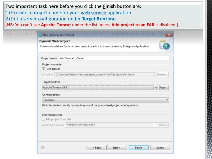 Writing simple web services in java using eclipse editor