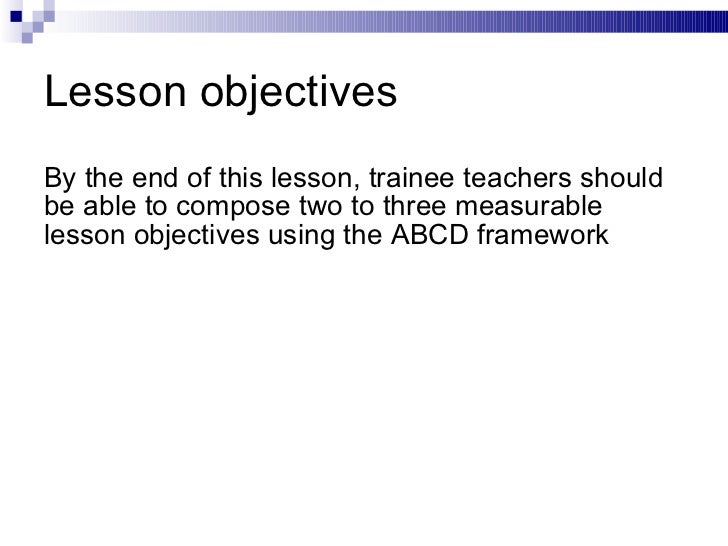 Writing Specific Instructionallearning Objectives
