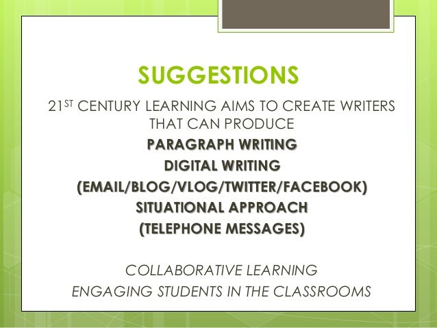 teaching writing skills A focus on strategies for teaching writing to esl and efl students that are level and objective appropriate and ensure student involvement.