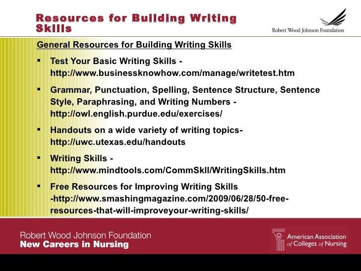 ... 5. Resour ces for Building WritingSkillsGeneral Resources for Building Writing  Skills Test Your ...