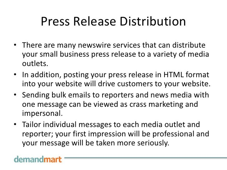 writing a press release for your business