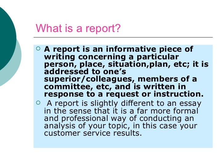 Report Writing - Lessons - Tes Teach