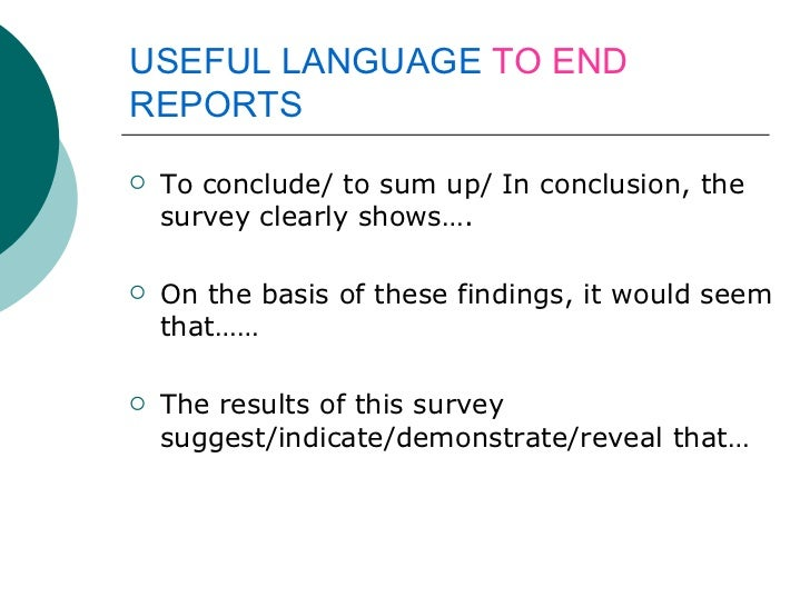 how to make a survey report