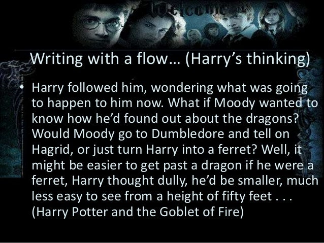 writing style and techniques of j k rowling in harry potter writing