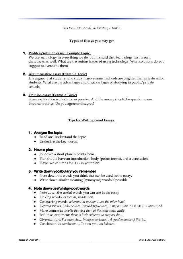 example essay topic ideas