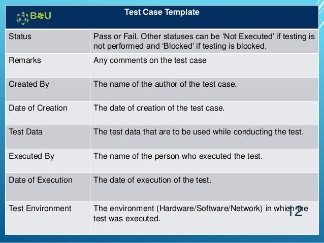 11 12 Test Case Template